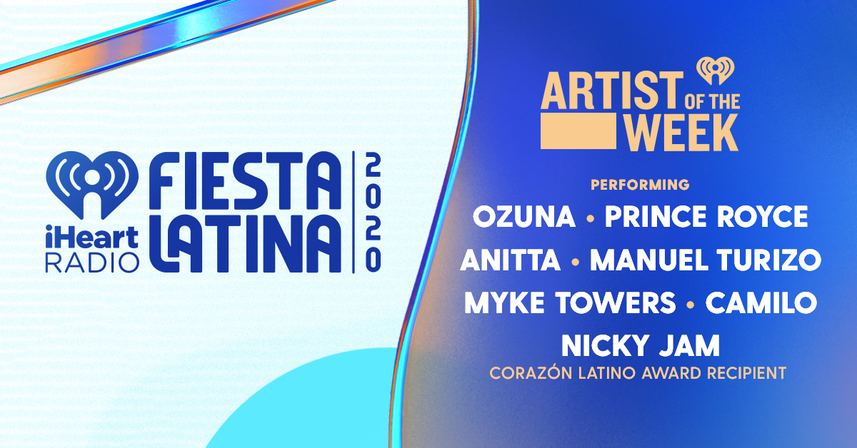 AOTW iHeartRadio Fiesta Latina 2020_Banner